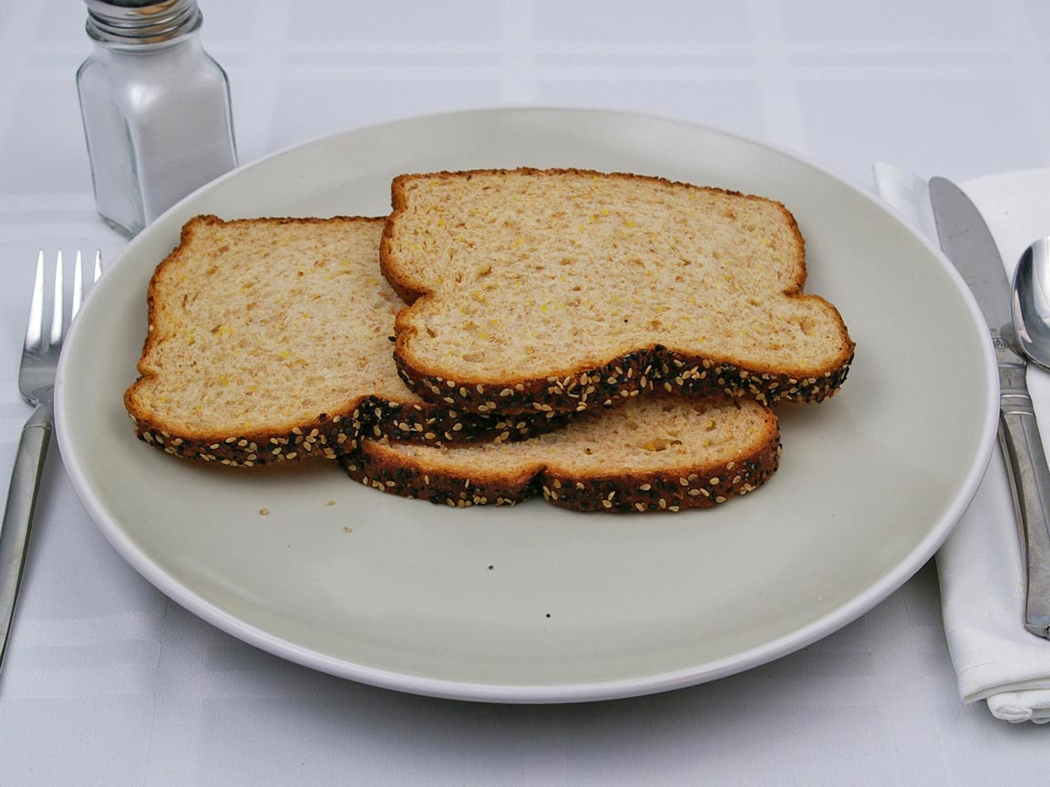 Calories in 3 slice(s) of Double Fiber Bread - Avg