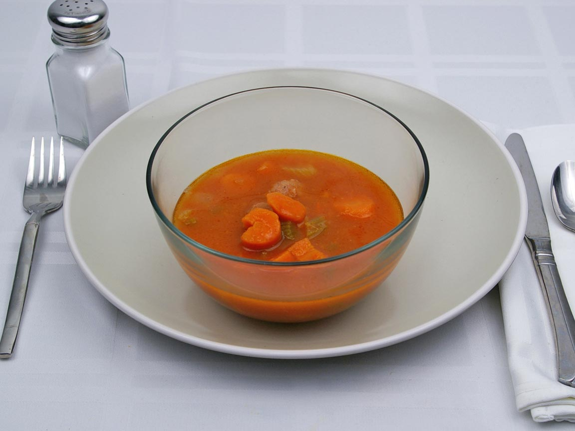Calories in 1.25 cup(s) of Albondigas Soup