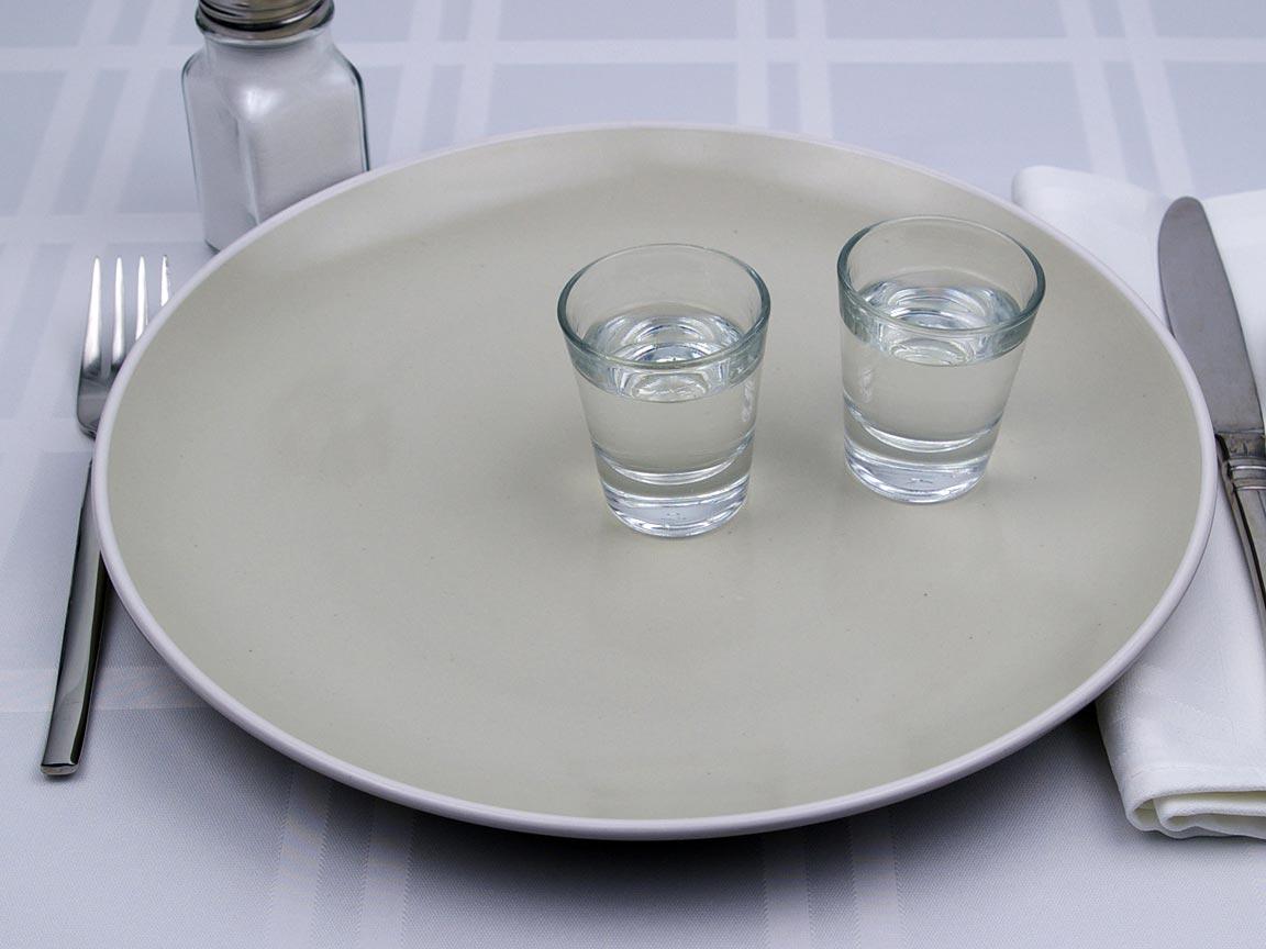 Calories in 2 fl oz(s) of Vodka - 80 Proof
