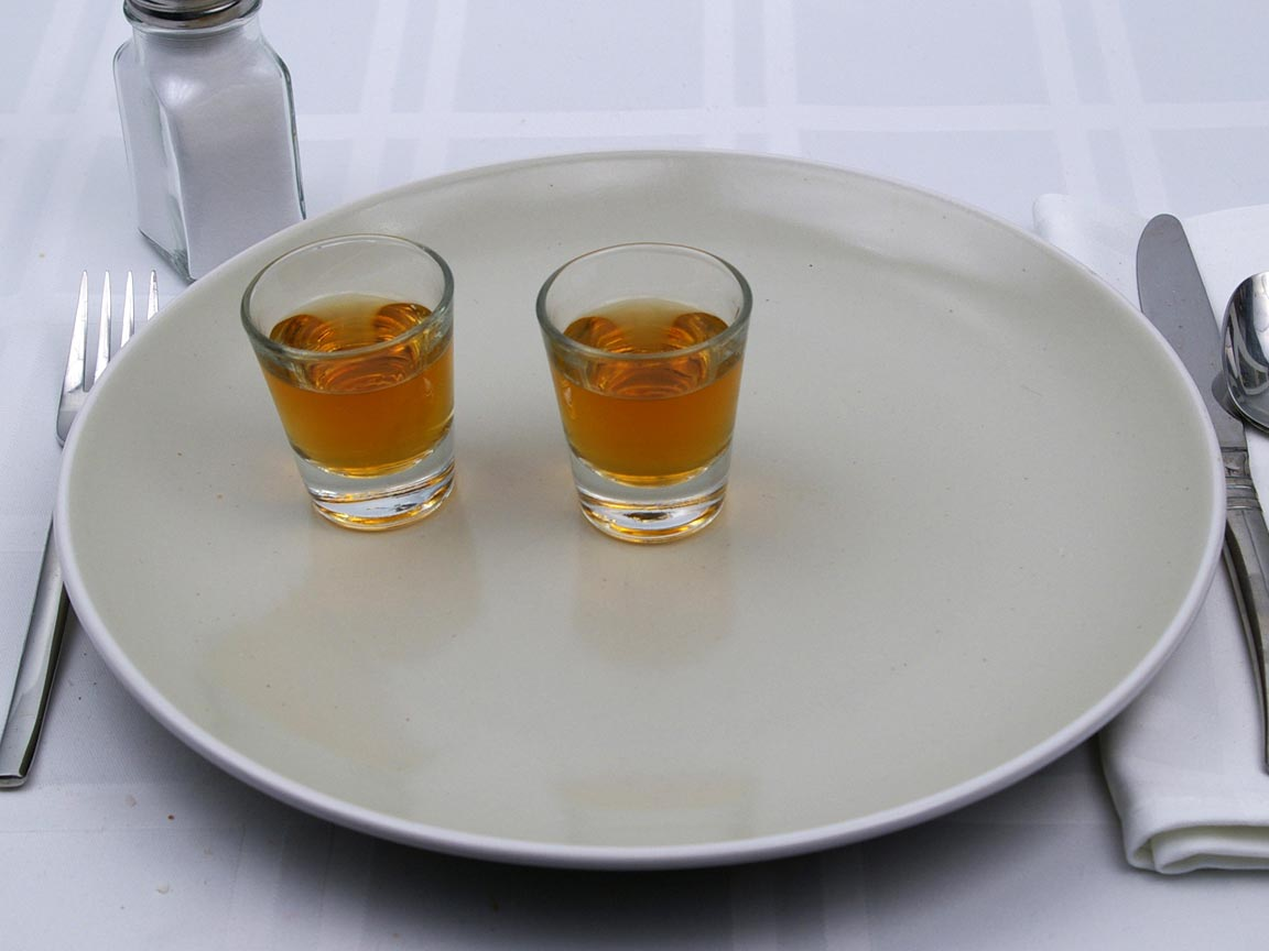 Calories in 2 fl oz(s) of Whiskey - 86 proof