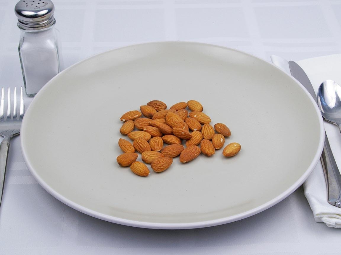 Calories in 49 grams of Almonds - No Salt