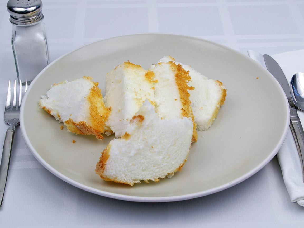 Calories in 2.5 piece(s) of Angel Food Cake - Avg