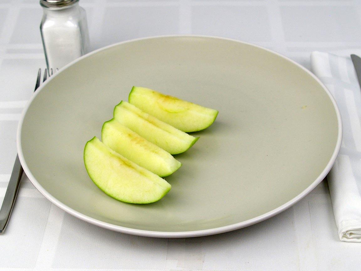 Calories in 0.5 apple(s) of Apple - Green