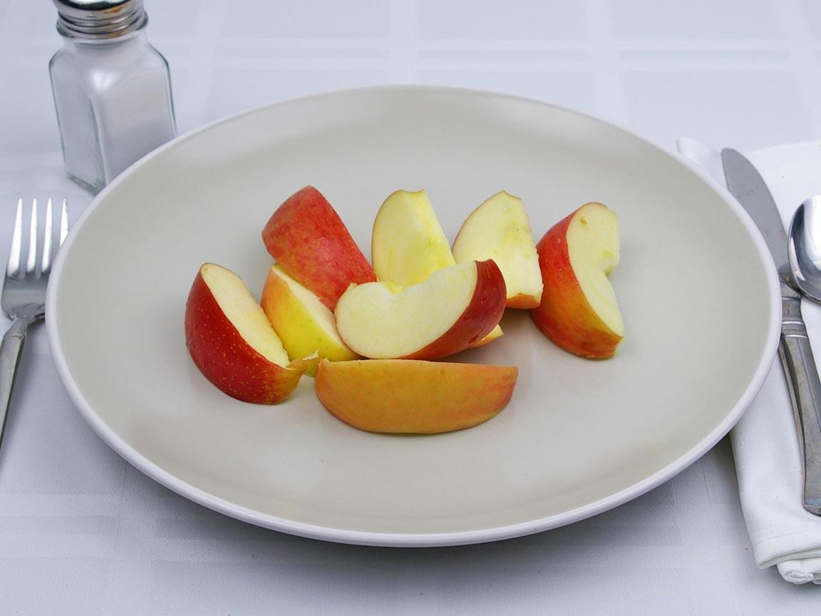 Calories in 1 fruit(s) of Apples - Fuji