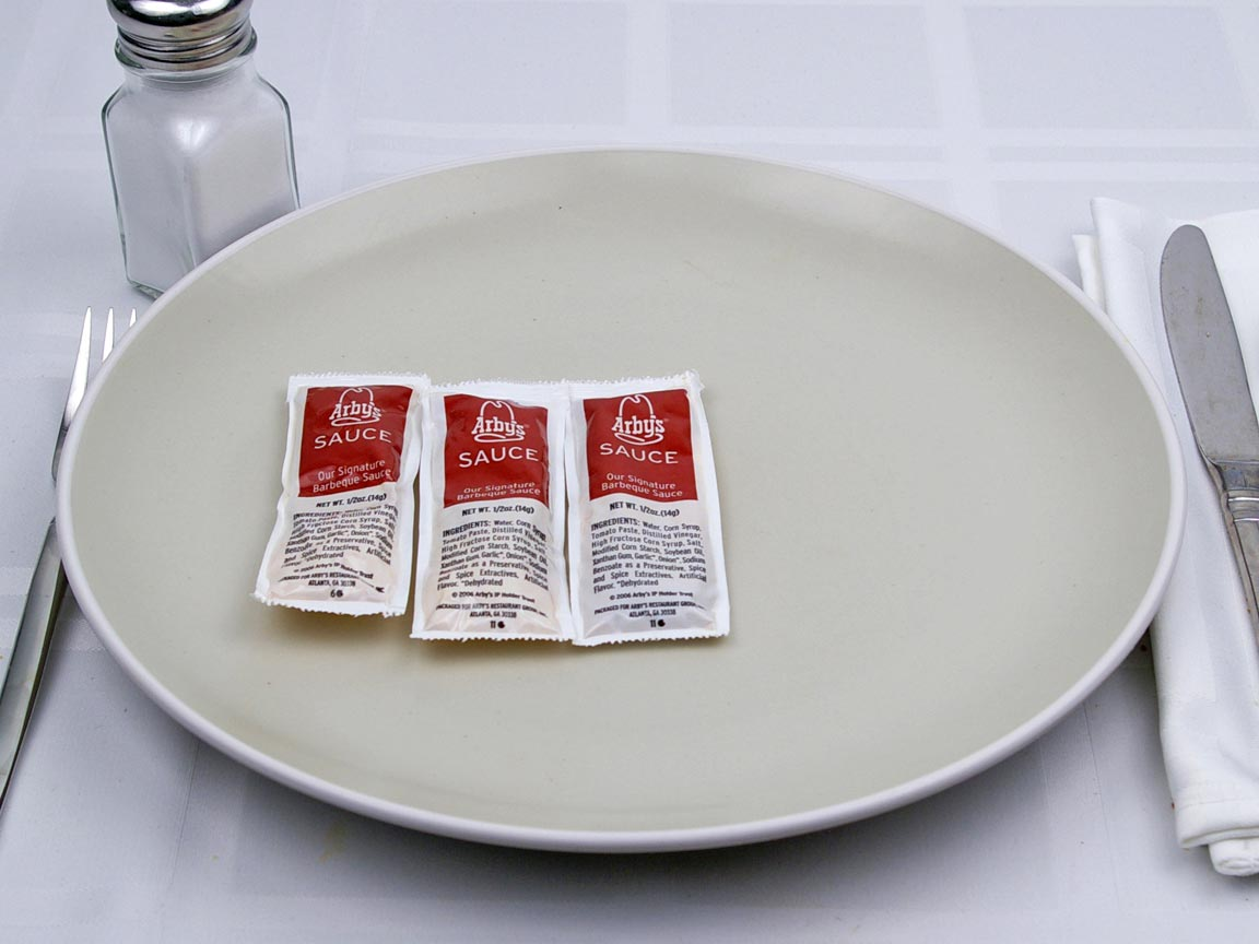 Calories in 3 packet(s) of Arby's  - Arby's Sauce