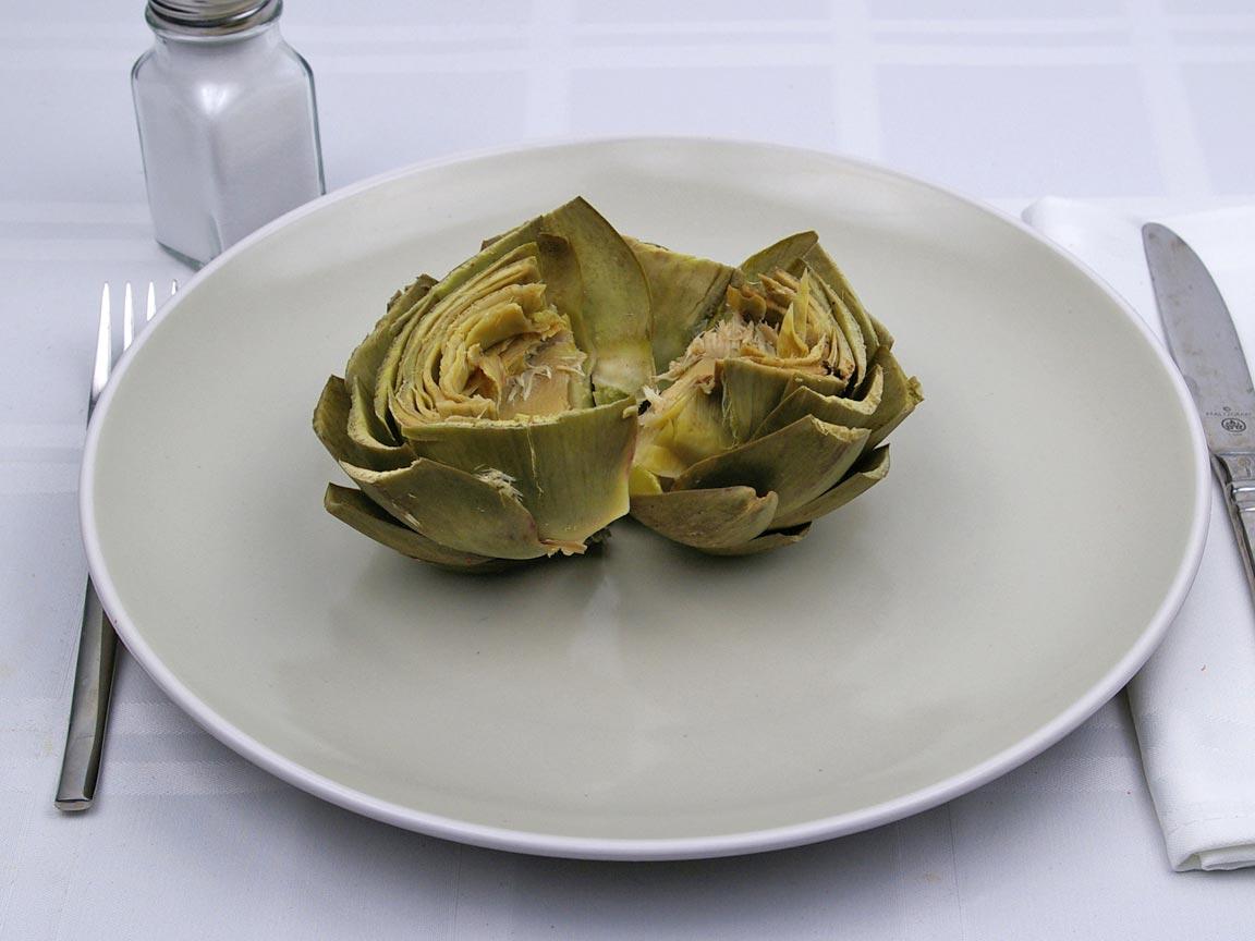 Calories in 0.5 artichoke(s) of Artichoke - Boiled