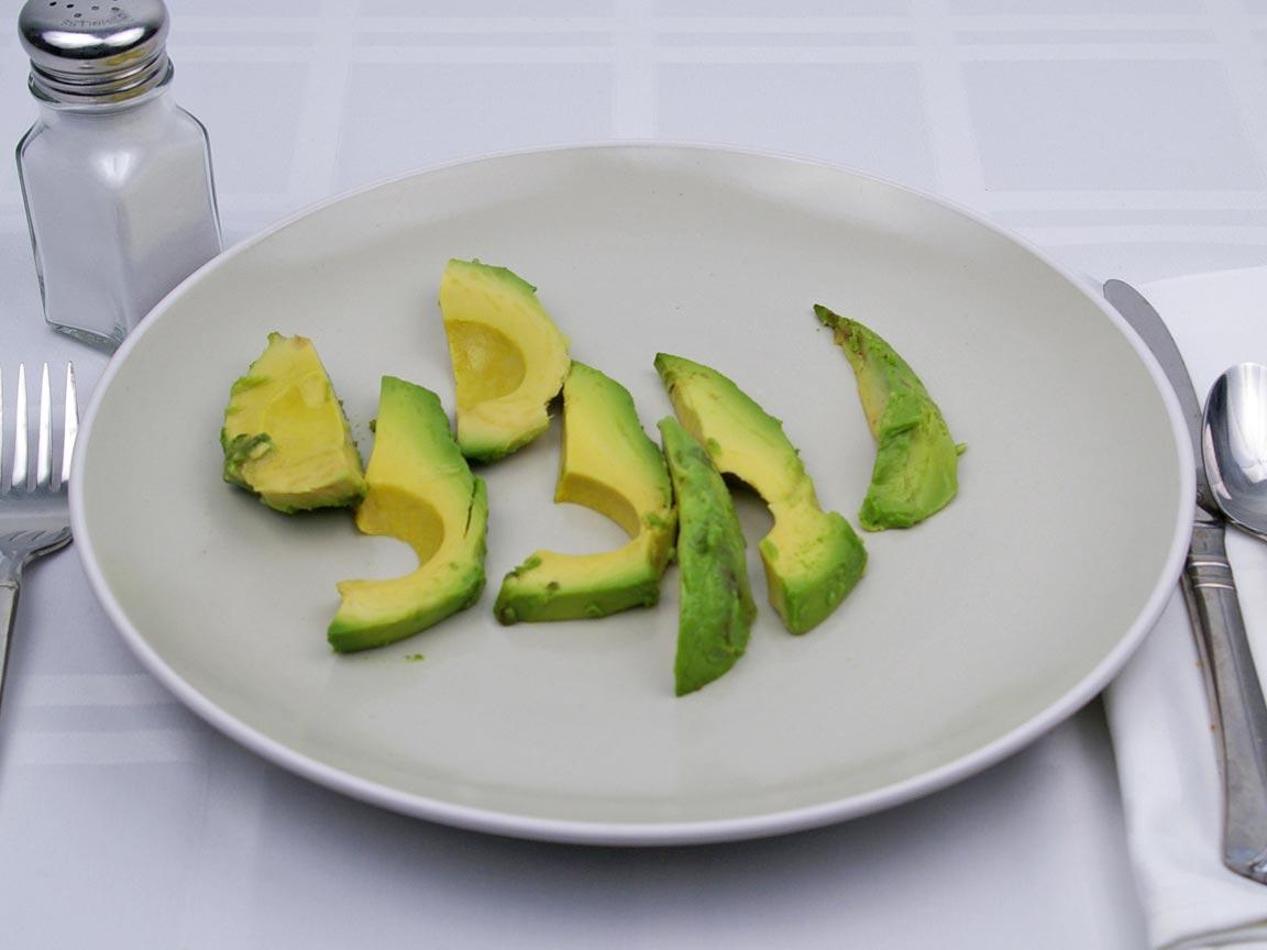 Calories in 7 slice(s) of Avocado - Sliced