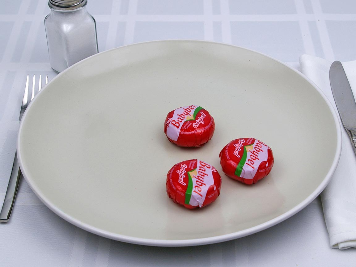 Calories in 3 piece(s) of Babybel Original Cheese