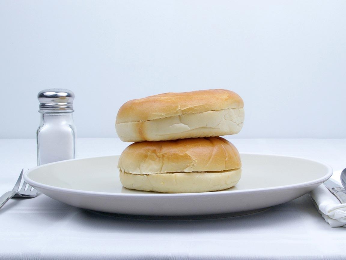 Calories in 2 bagel(s) of Plain Bagel - Avg