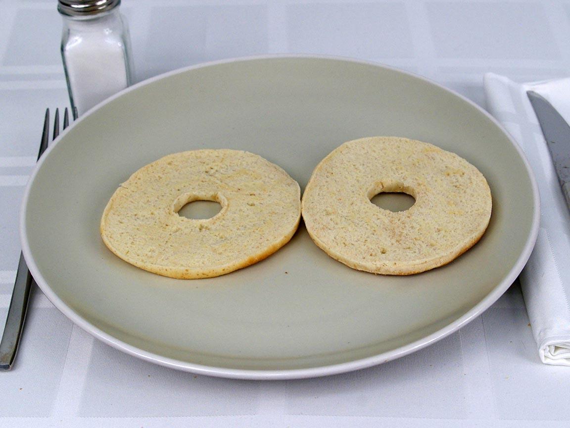 Calories in 1 ea(s) of Bagel Thins - Plain