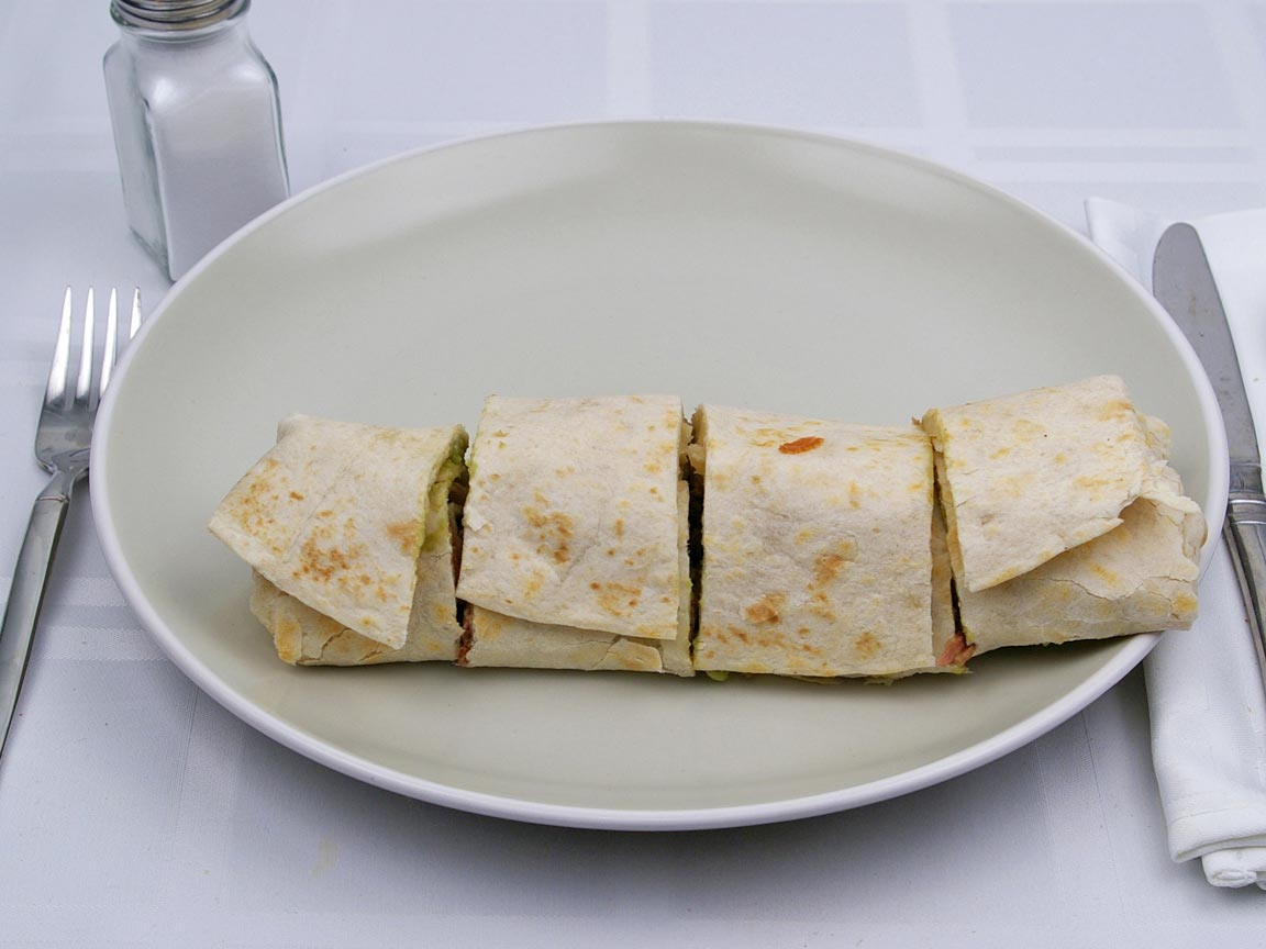 Calories in 1 burrito(s) of Baja Fresh - Baja Steak Burrito
