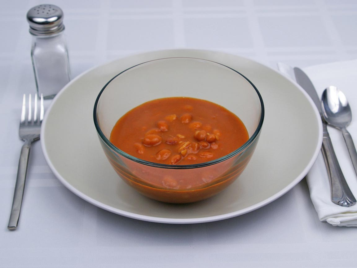 Calories in 1.75 cup(s) of Baked Beans - Avg