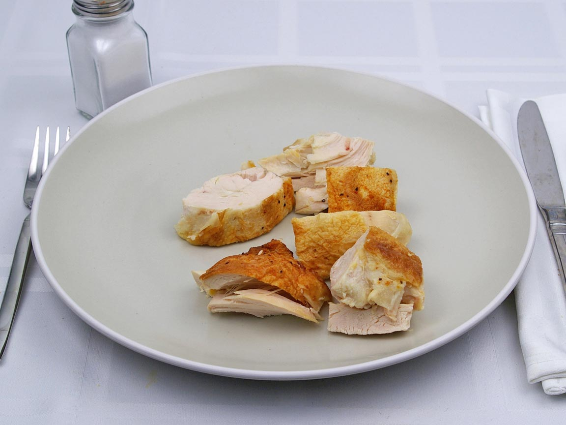 Calories in 1 breast of Chicken - Baked - Breast