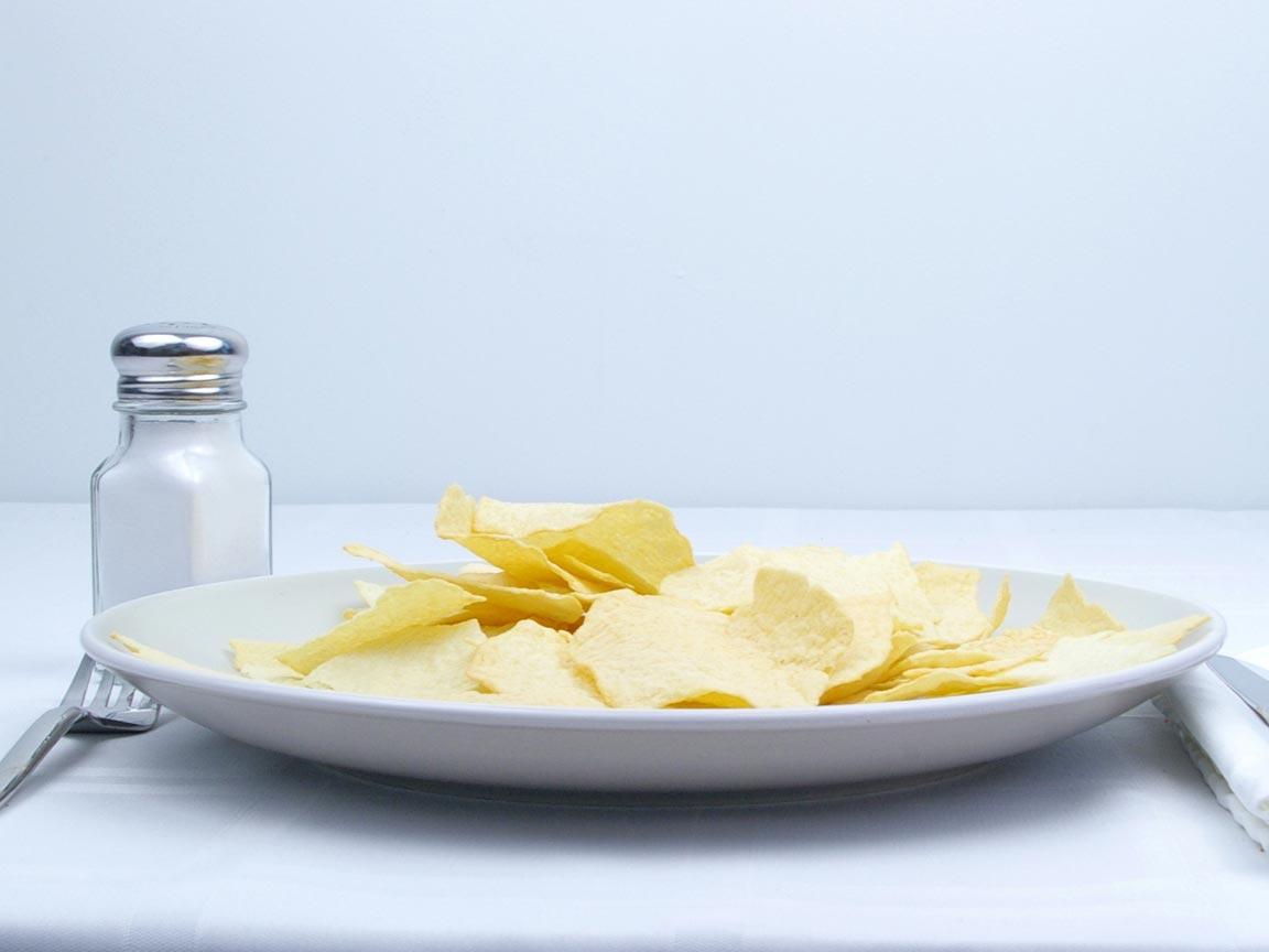 Calories in 56 grams of Potato Chips - Baked - Original