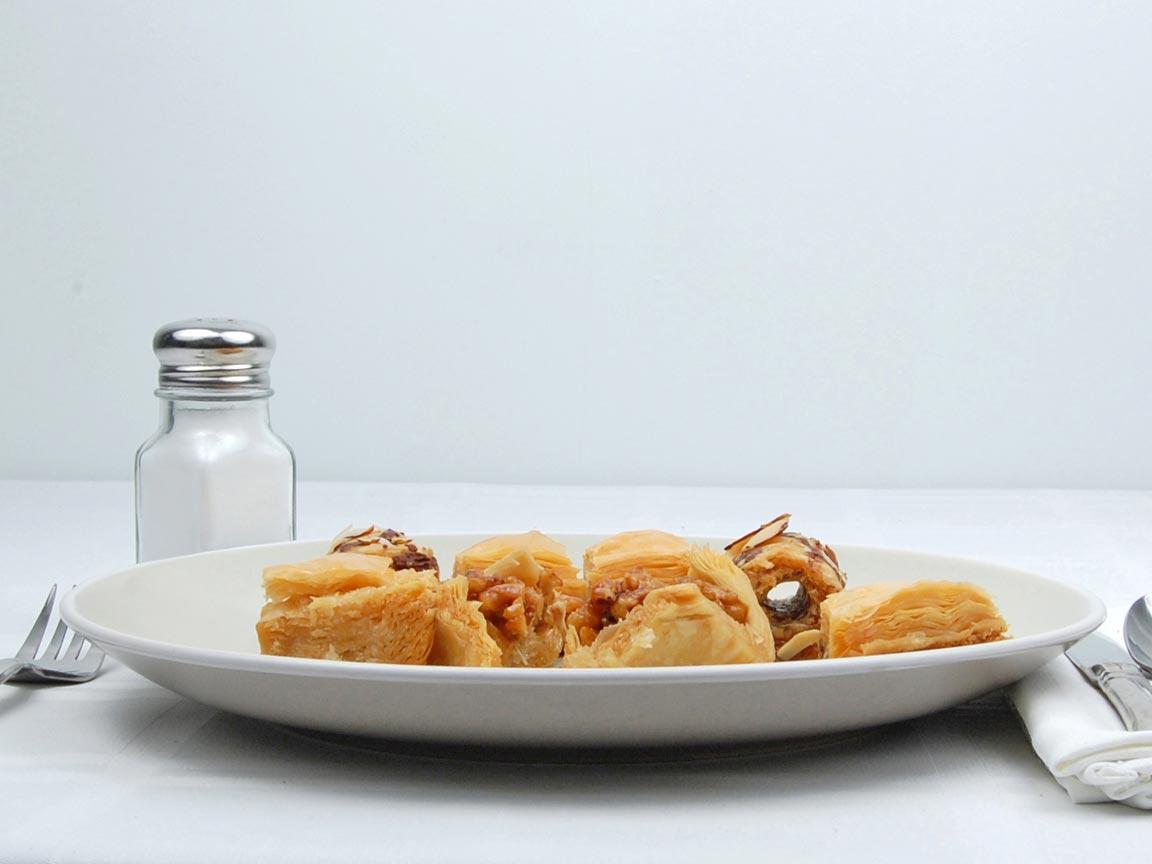 Calories in 8 piece(s) of Baklava