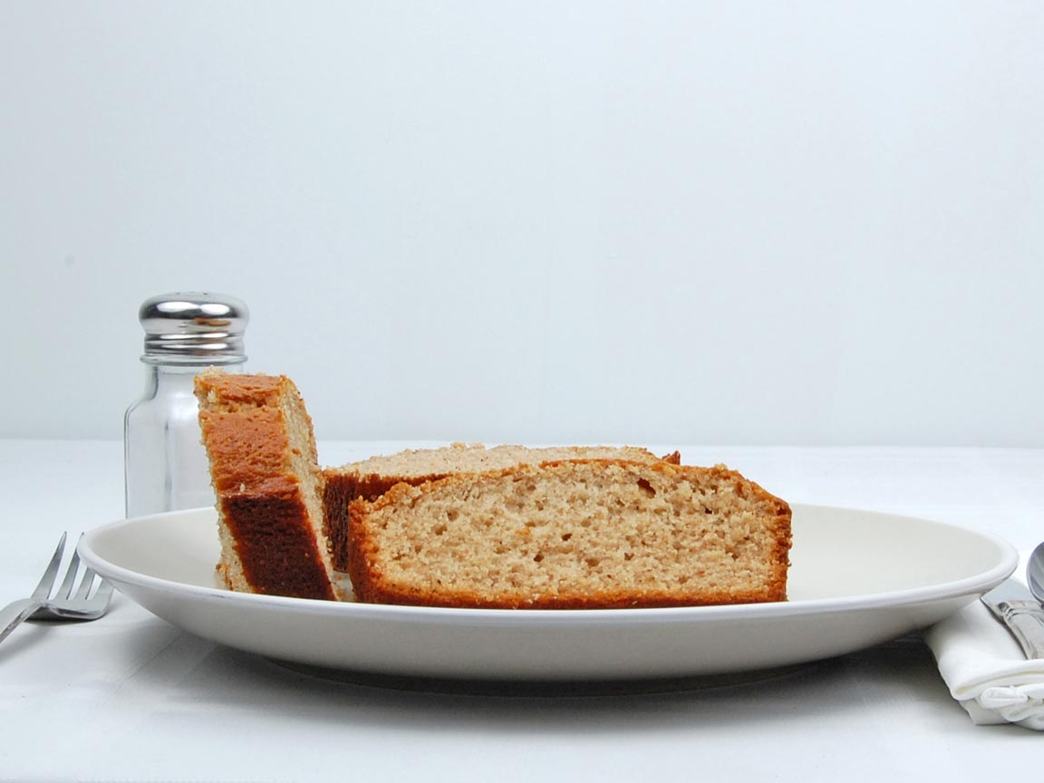 Calories in 4 slice(s) of Banana Bread - No Nuts - Avg