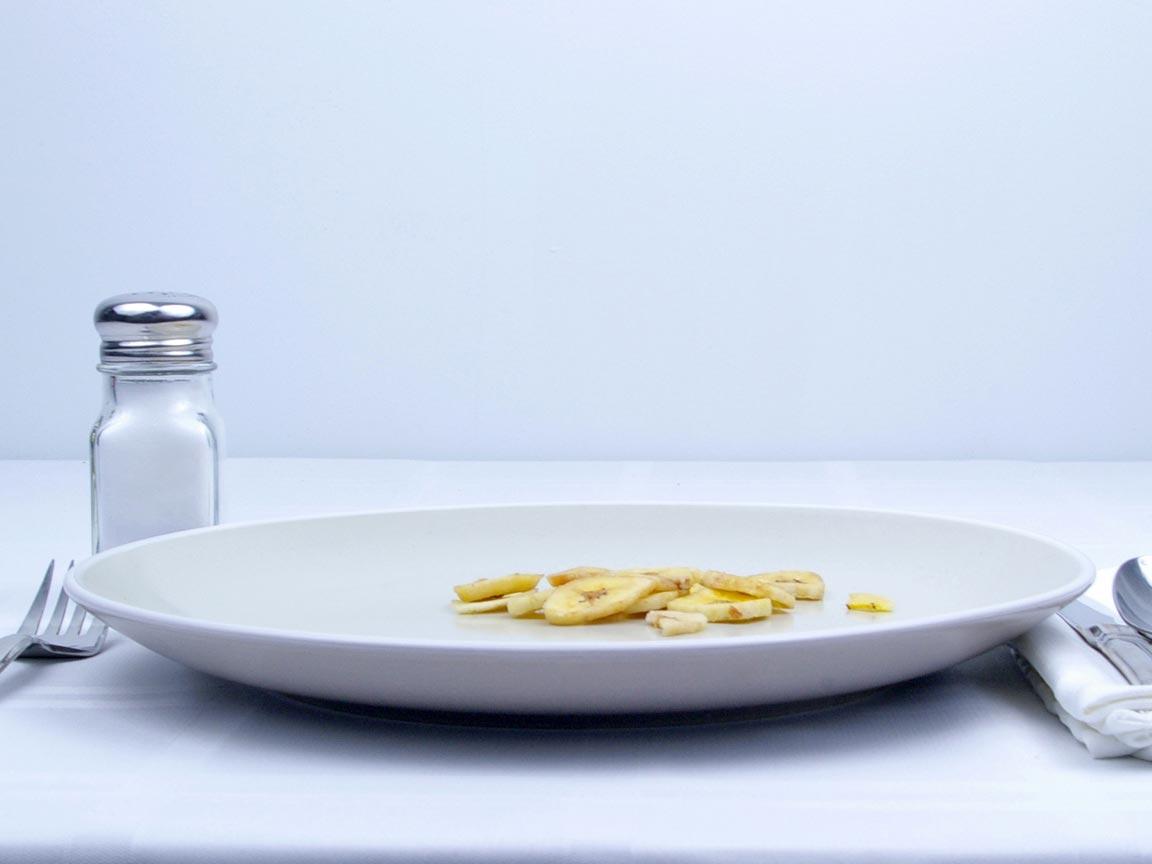 Calories in 14 grams of Banana Chips - Avg