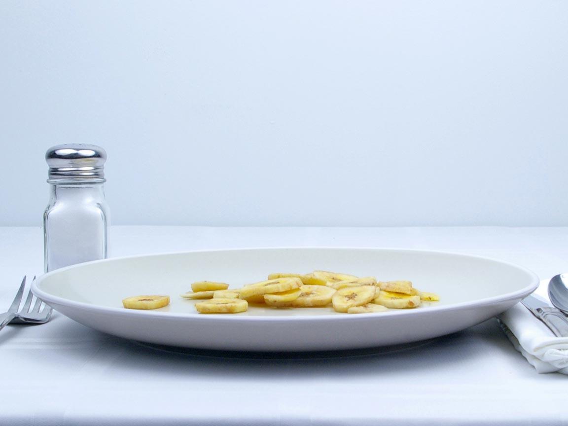 Calories in 28 grams of Banana Chips - Avg
