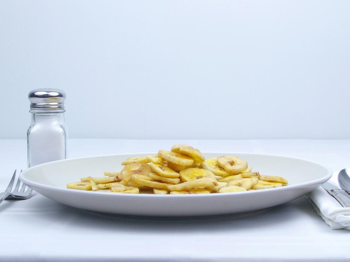 Calories in 85 grams of Banana Chips - Avg