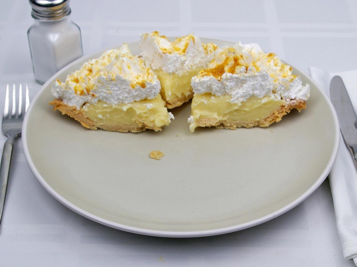Calories in 3 slice(s) of Banana Cream Pie -Avg