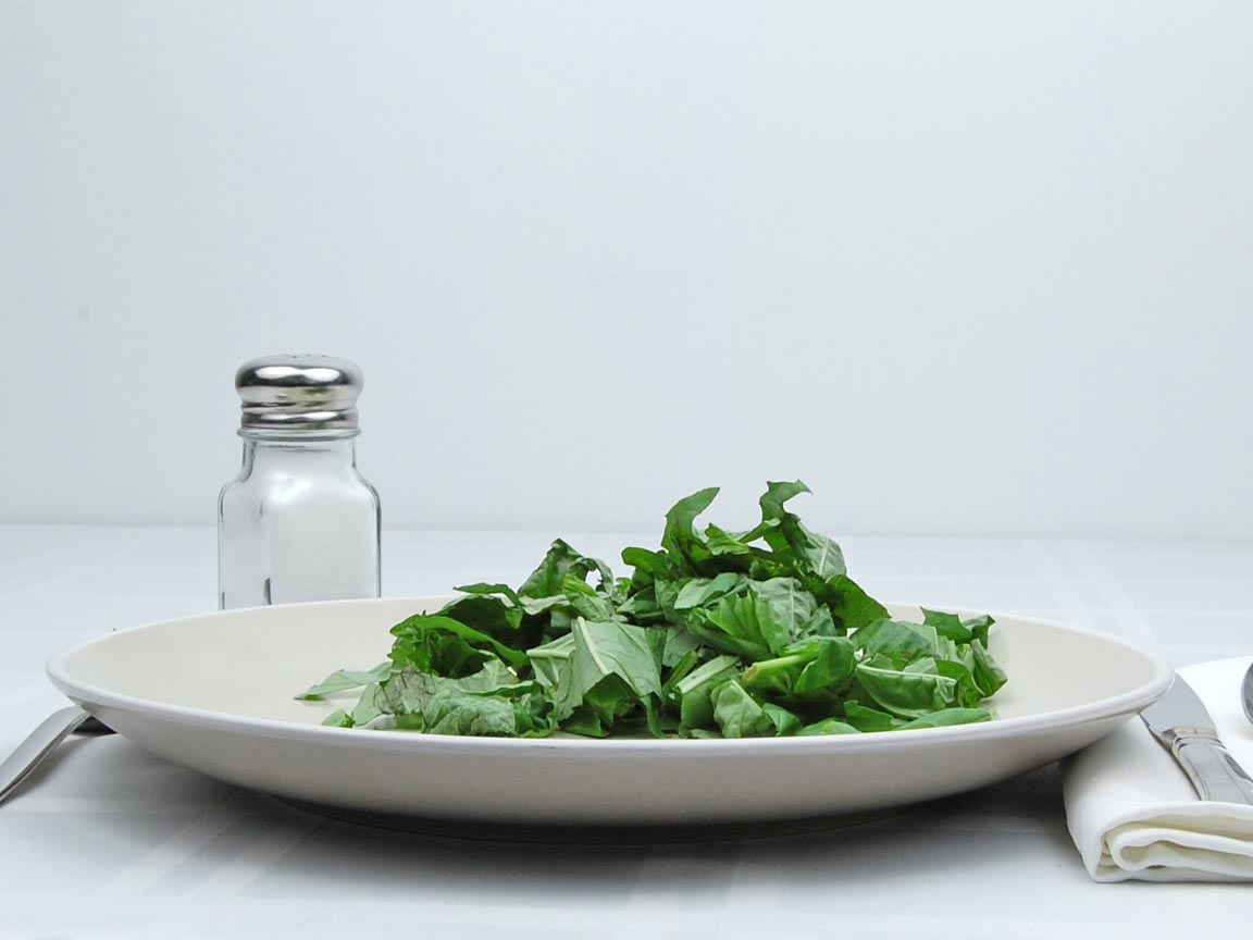 Calories in 1 cup(s) of Basil - Fresh