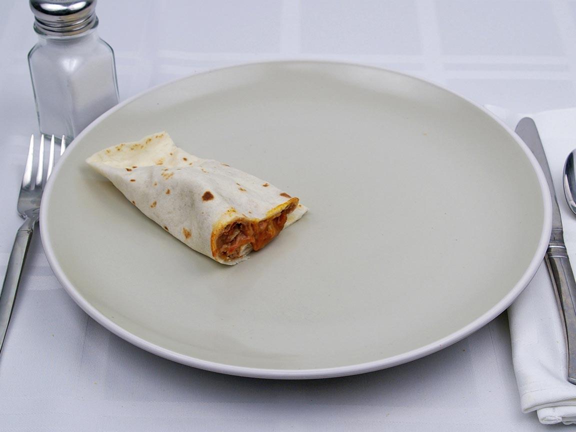 Calories in 0.5 burrito(s) of Taco Bell - Bean Burrito