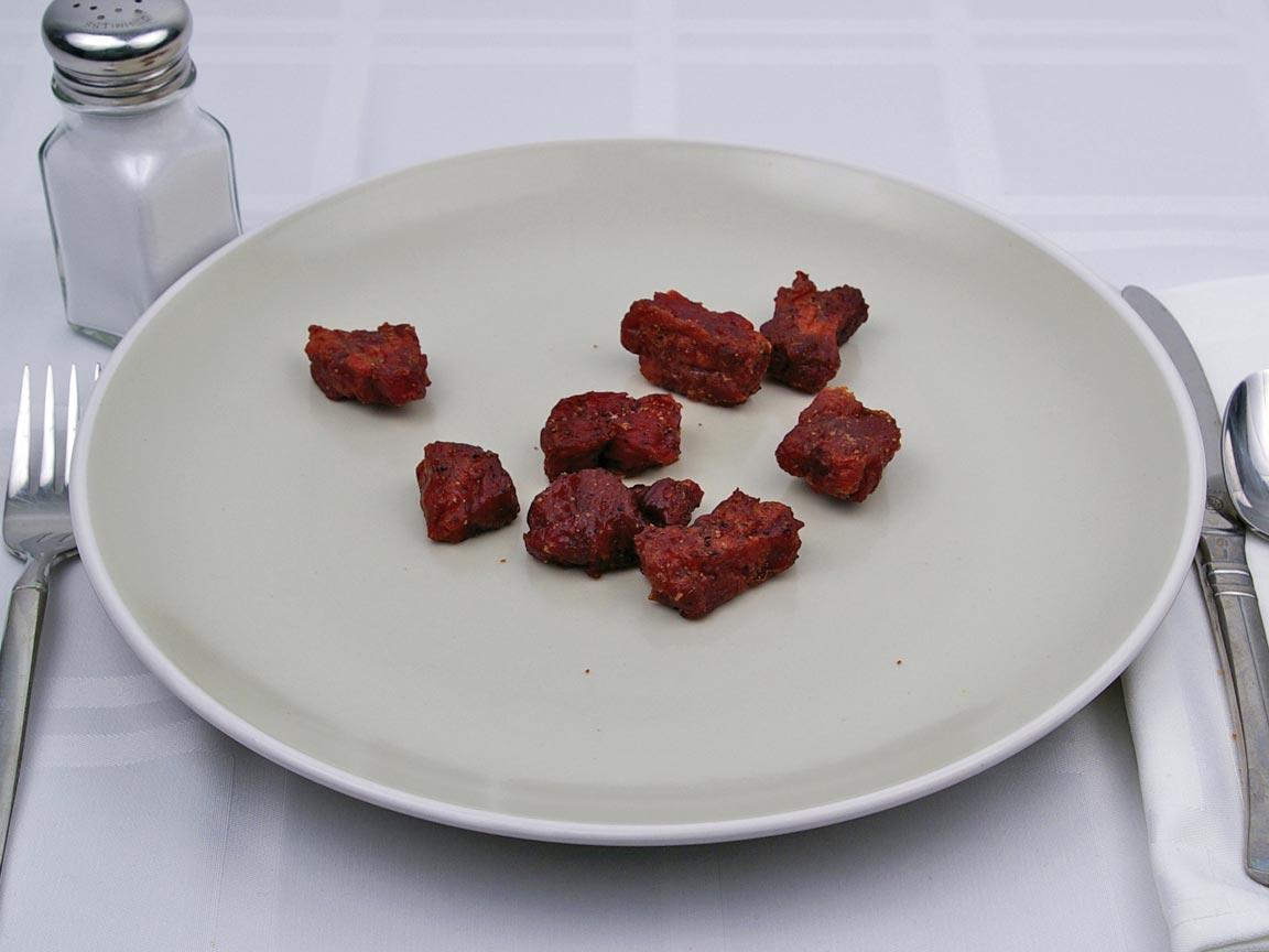Calories in 56 grams of Beef Jerky - Nuggets - Teriyaki