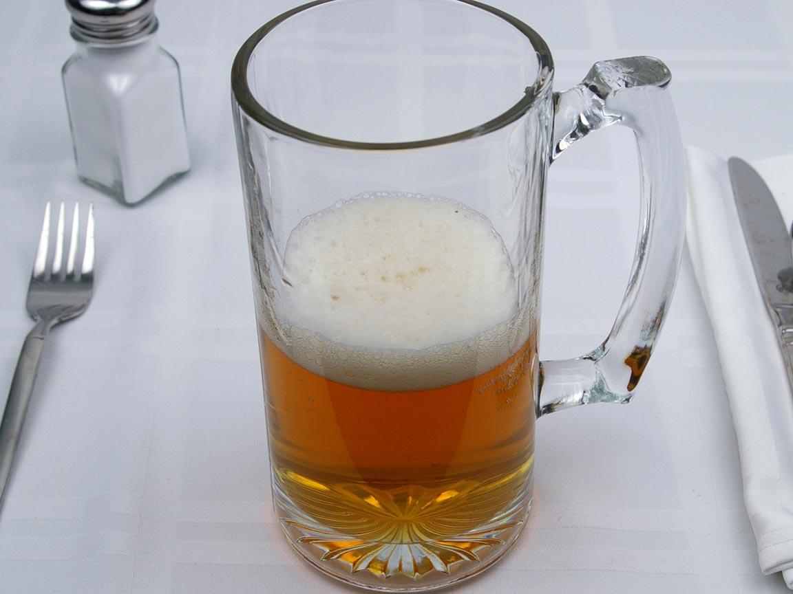 Calories in 12 fl oz(s) of Hefeweizen Beer