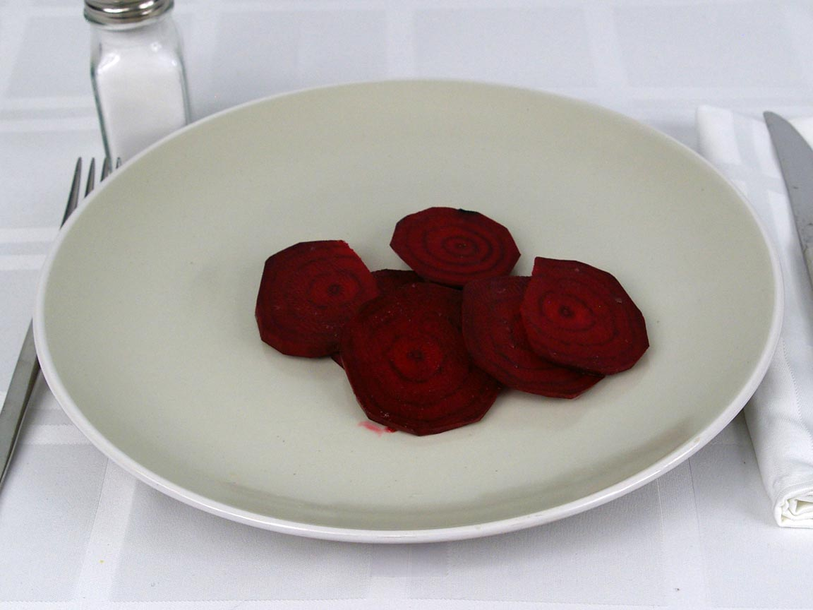 Calories in 56 grams of Beets Raw