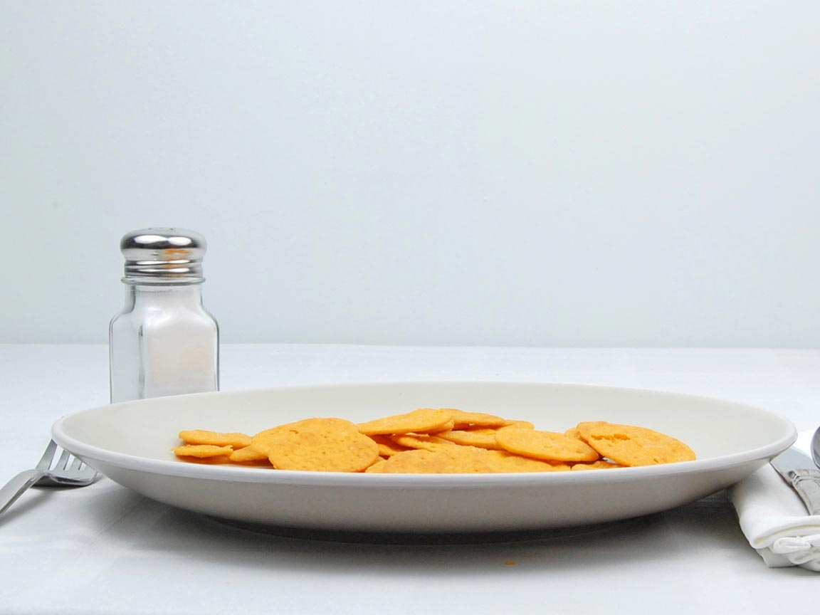 Calories in 30 cracker(s) of Better Cheddars Crackers