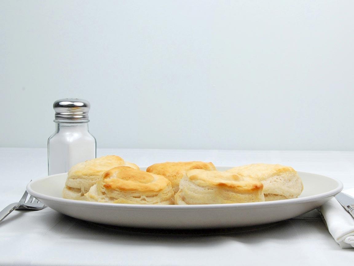 Calories in 5 biscuit(s) of Biscuit - Pillsbury Grands jr.
