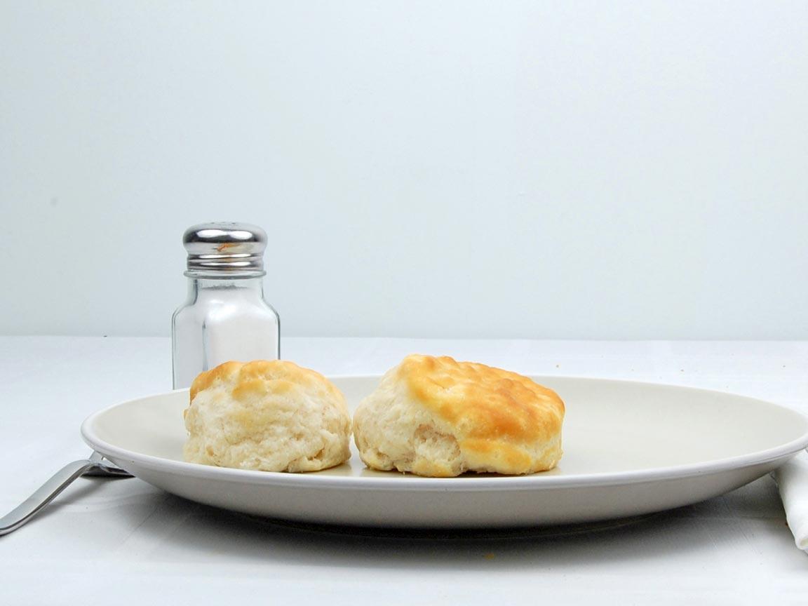 Calories in 2 biscuit(s) of Kentucky Fried Chicken - Biscuit