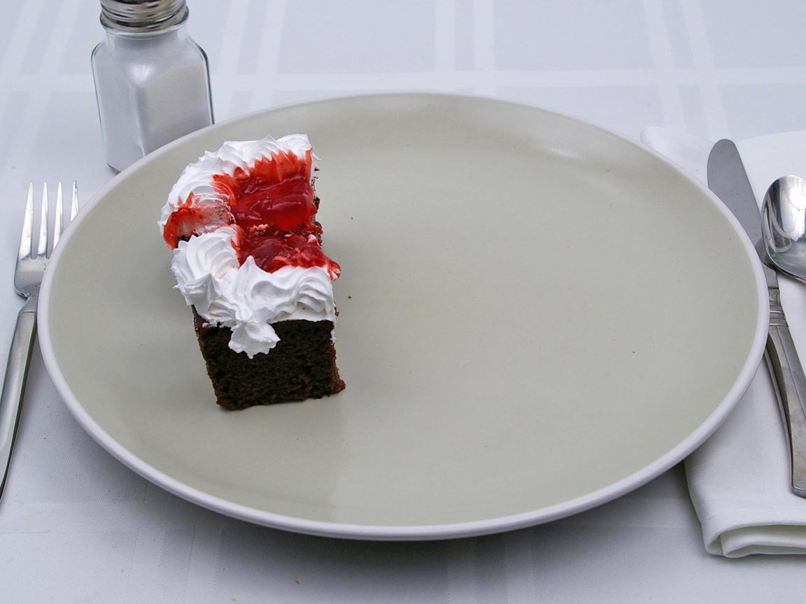 Calories in 0.5 piece(s) of Cake - Black Forest