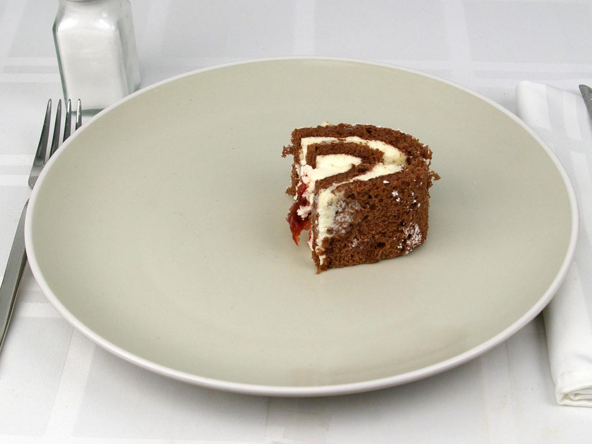 Calories in 0.5 piece(s) of Swiss Roll Cake
