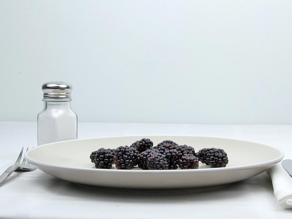 Calories in 76 grams of Blackberries