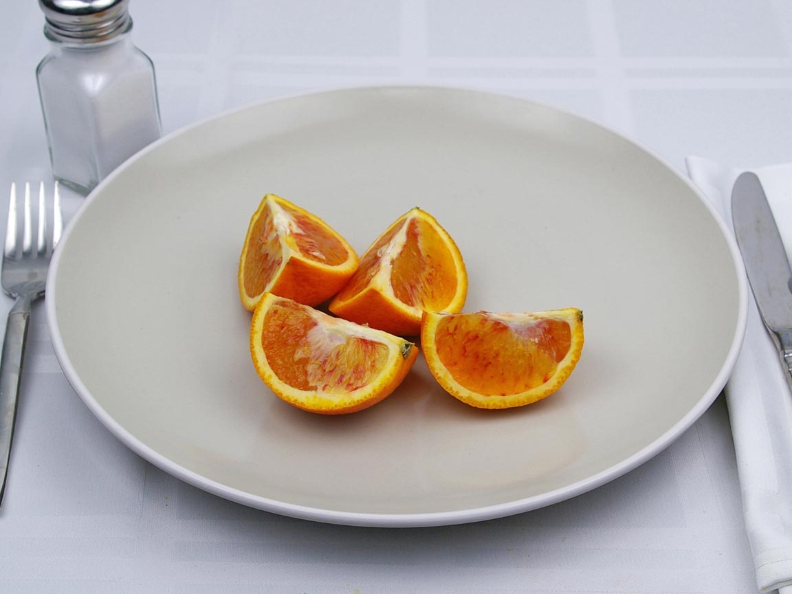 Calories in 1 fruit(s) of Blood Orange