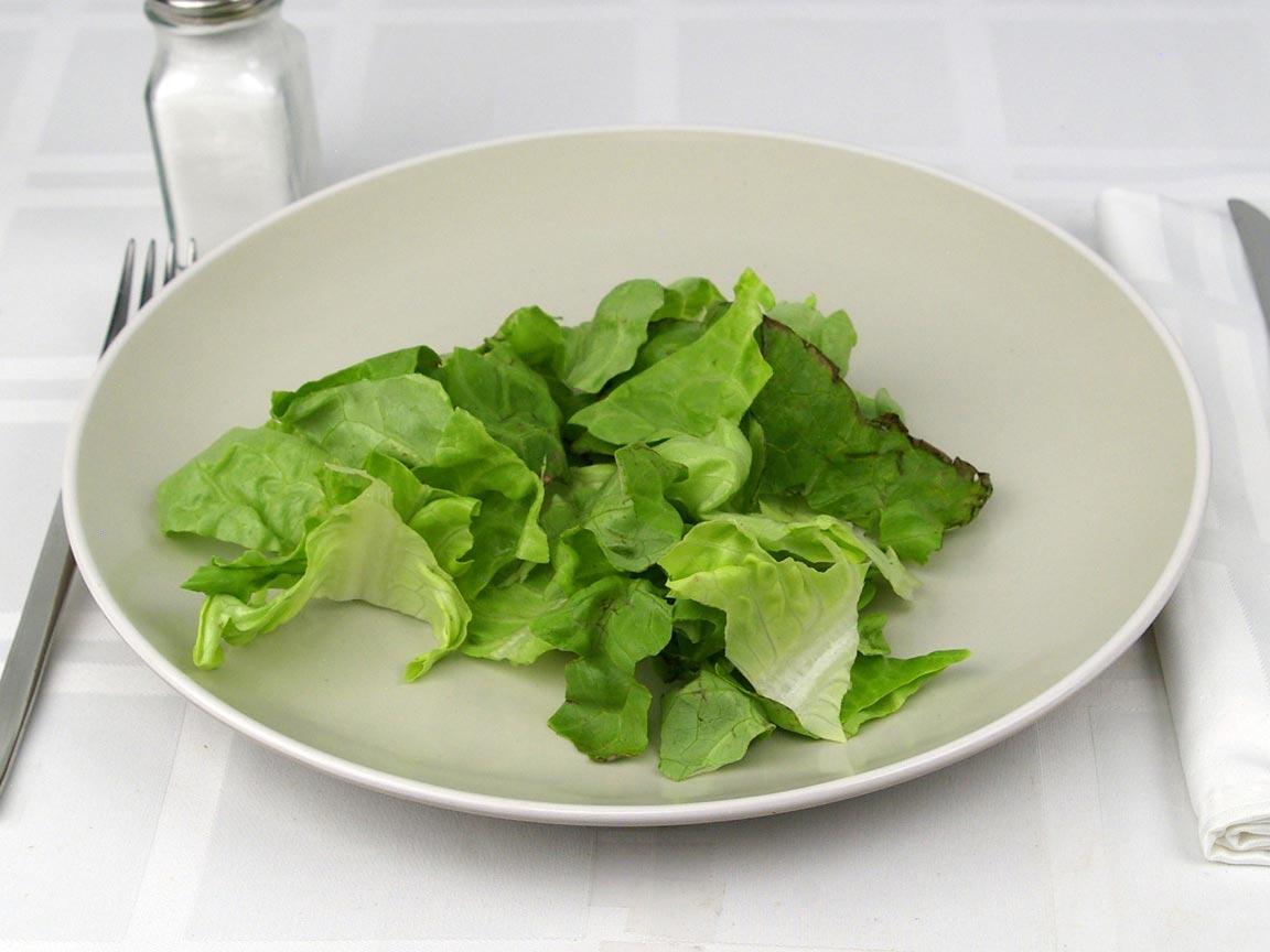 Calories in 1.5 cup(s) of Butter - Boston Bibb Lettuce