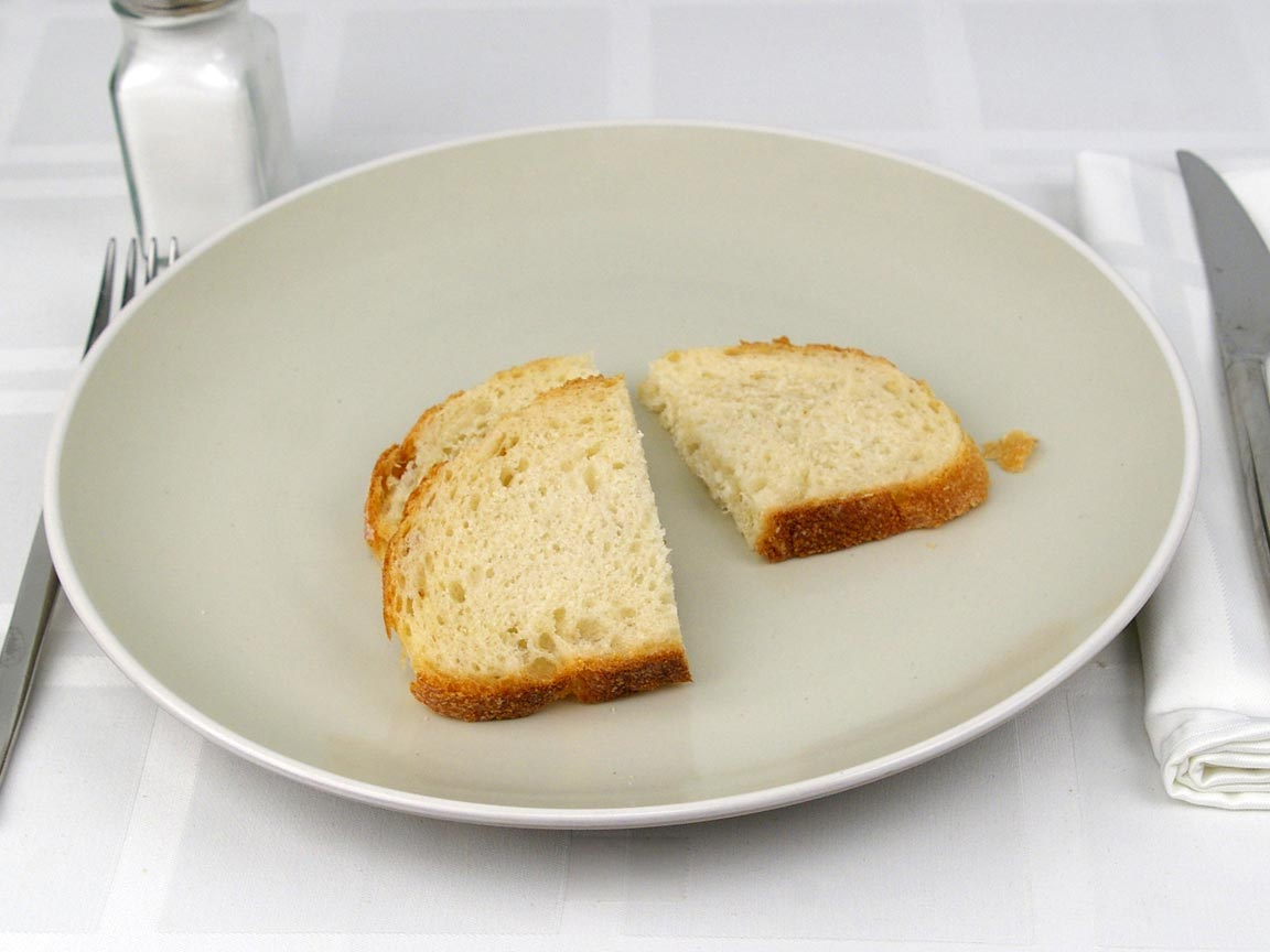 Calories in 36 grams of Sourdough Bread - Sliced Boule