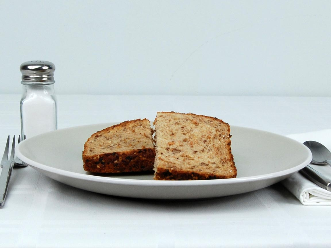 Calories in 1.5 piece(s) of Eureka Seeds the Day Bread
