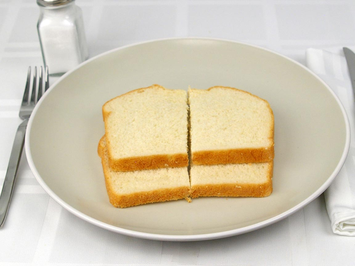 Calories in 2 piece(s) of Country Buttermilk Bread