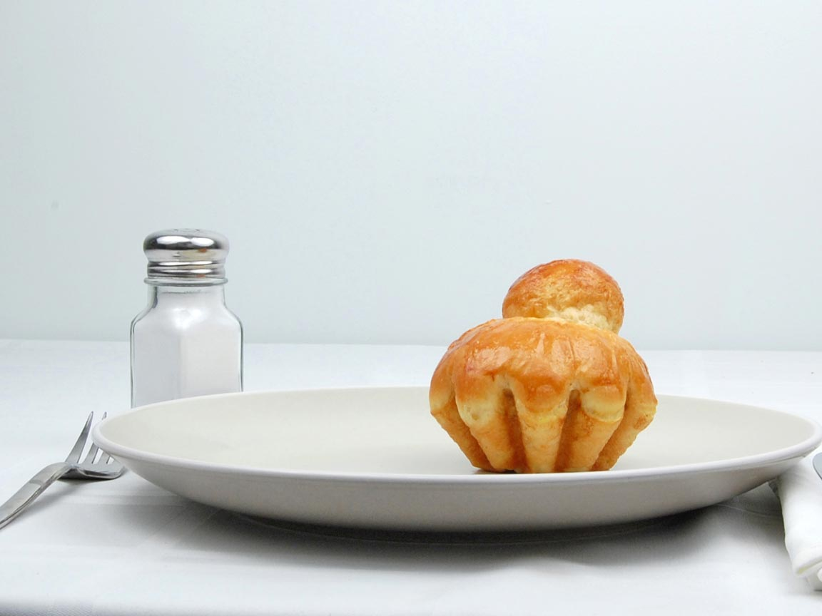 Calories in 1 piece(s) of Brioche