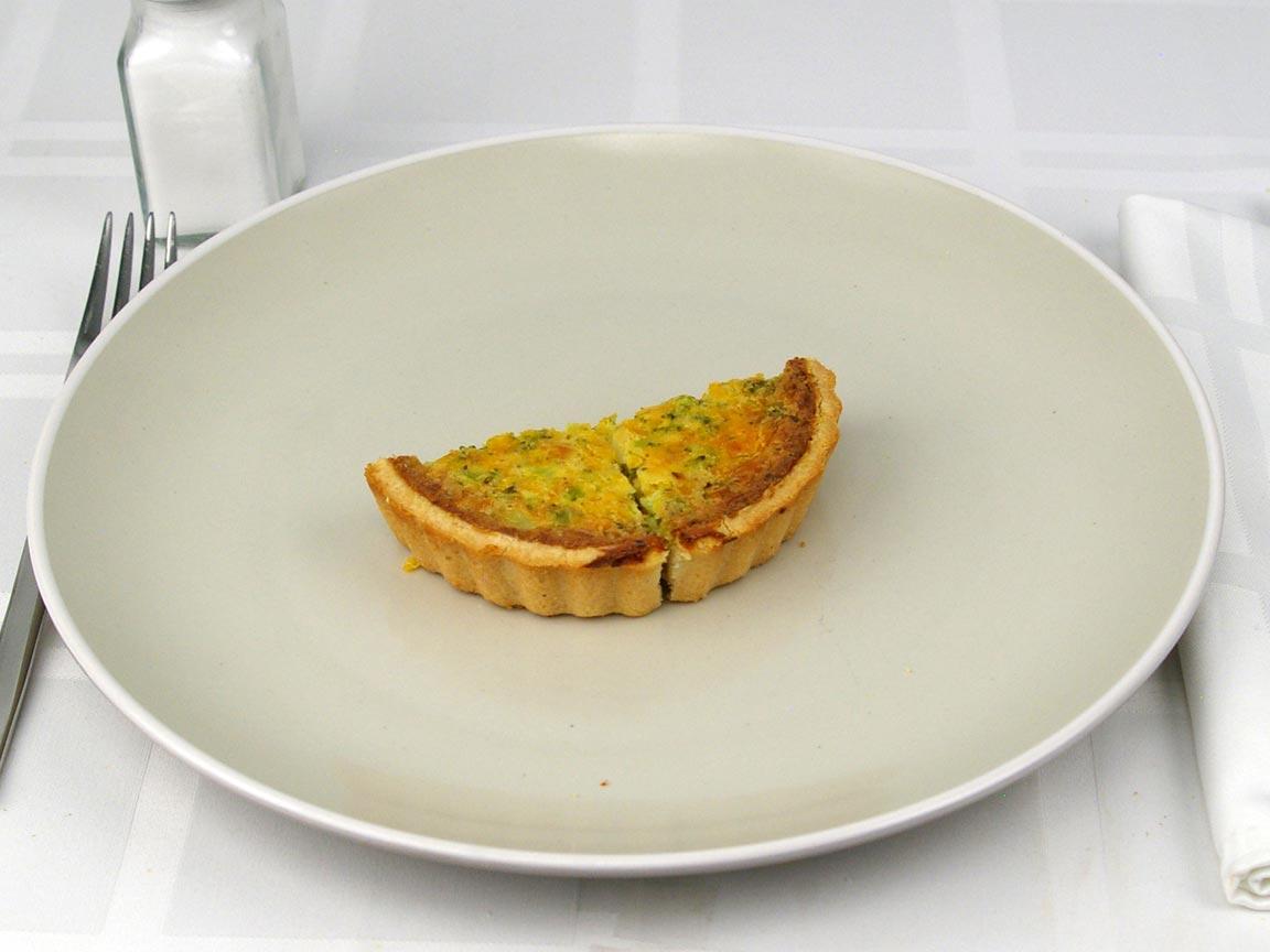 Calories in 0.5 quiche(s) of Broccoli & Cheddar Quiche