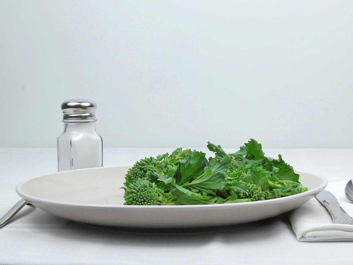 Calories in 113 grams of Broccoli Rabe - Raw