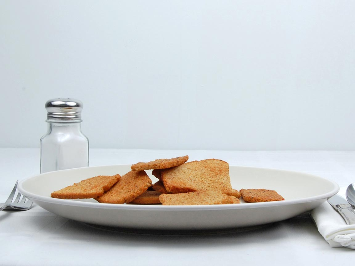 Calories in 12 piece(s) of Bread Chips