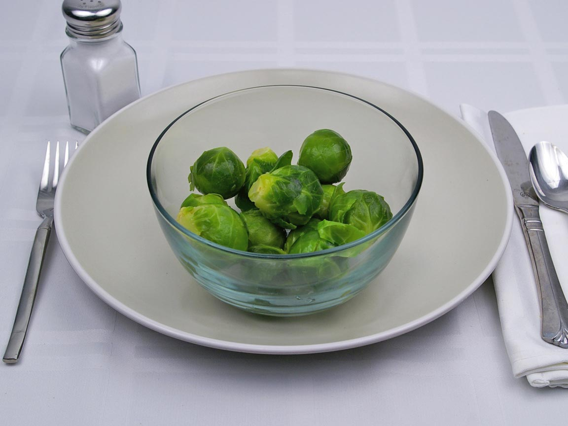 Calories in 12 sprout(s) of Brussel Sprouts - Boiled