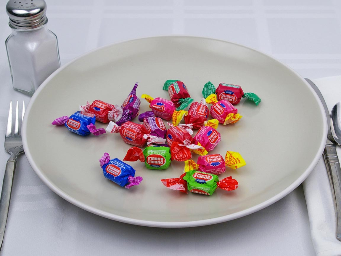 Calories in 16 piece(s) of Double Bubble Gum