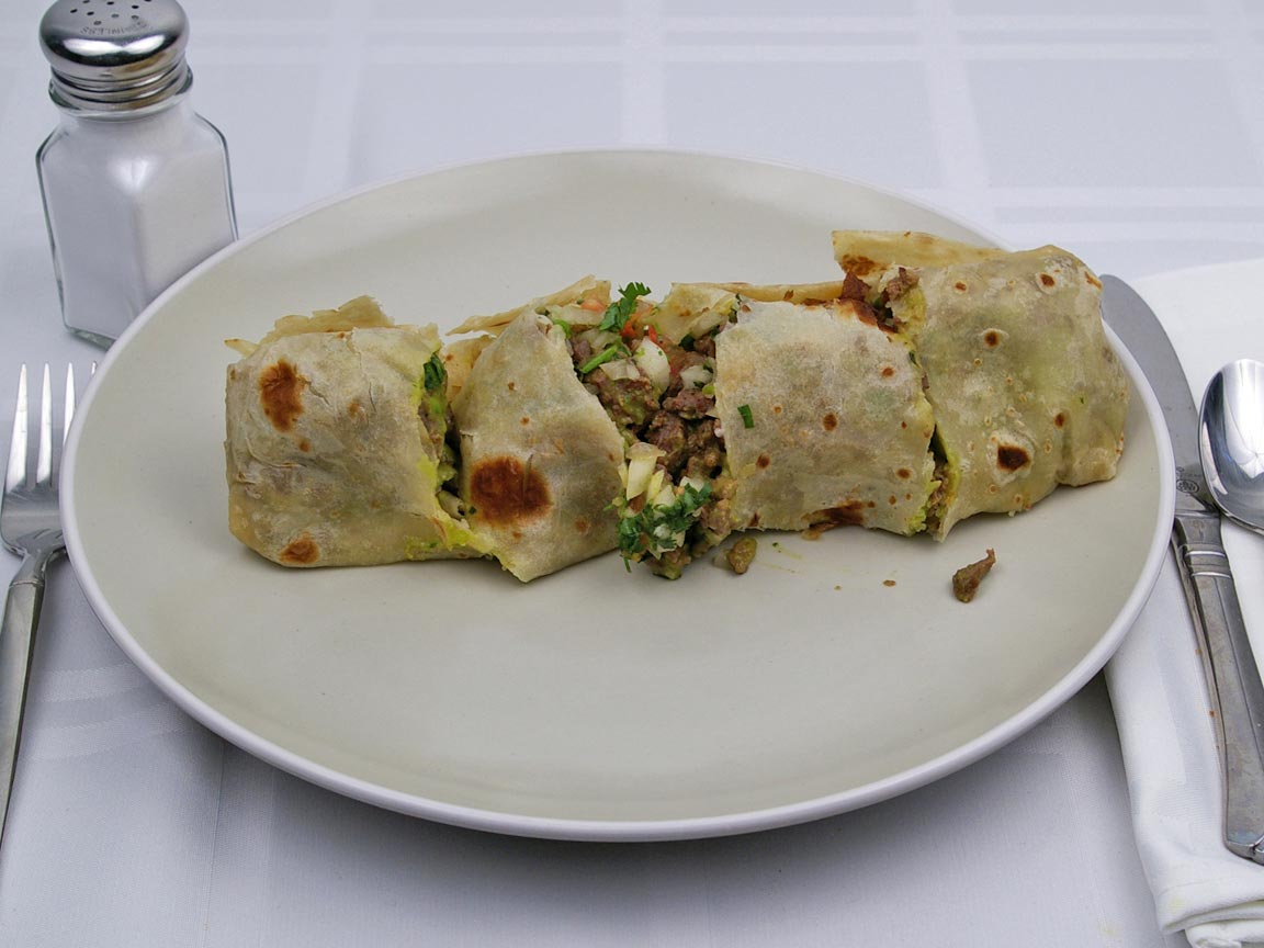 Calories in 1 burrito(s) of Beef Burrito - Avg