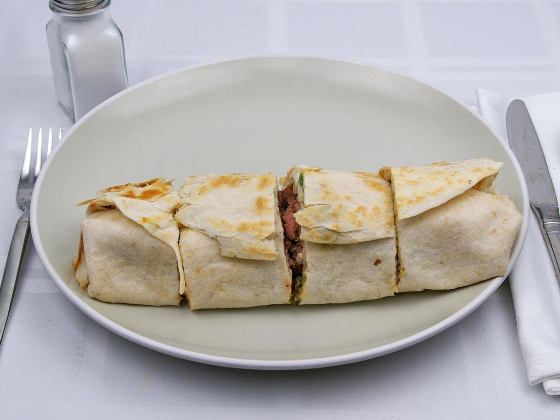 Calories in 1 burrito(s) of Baja Fresh - Ultimo Steak Burrito