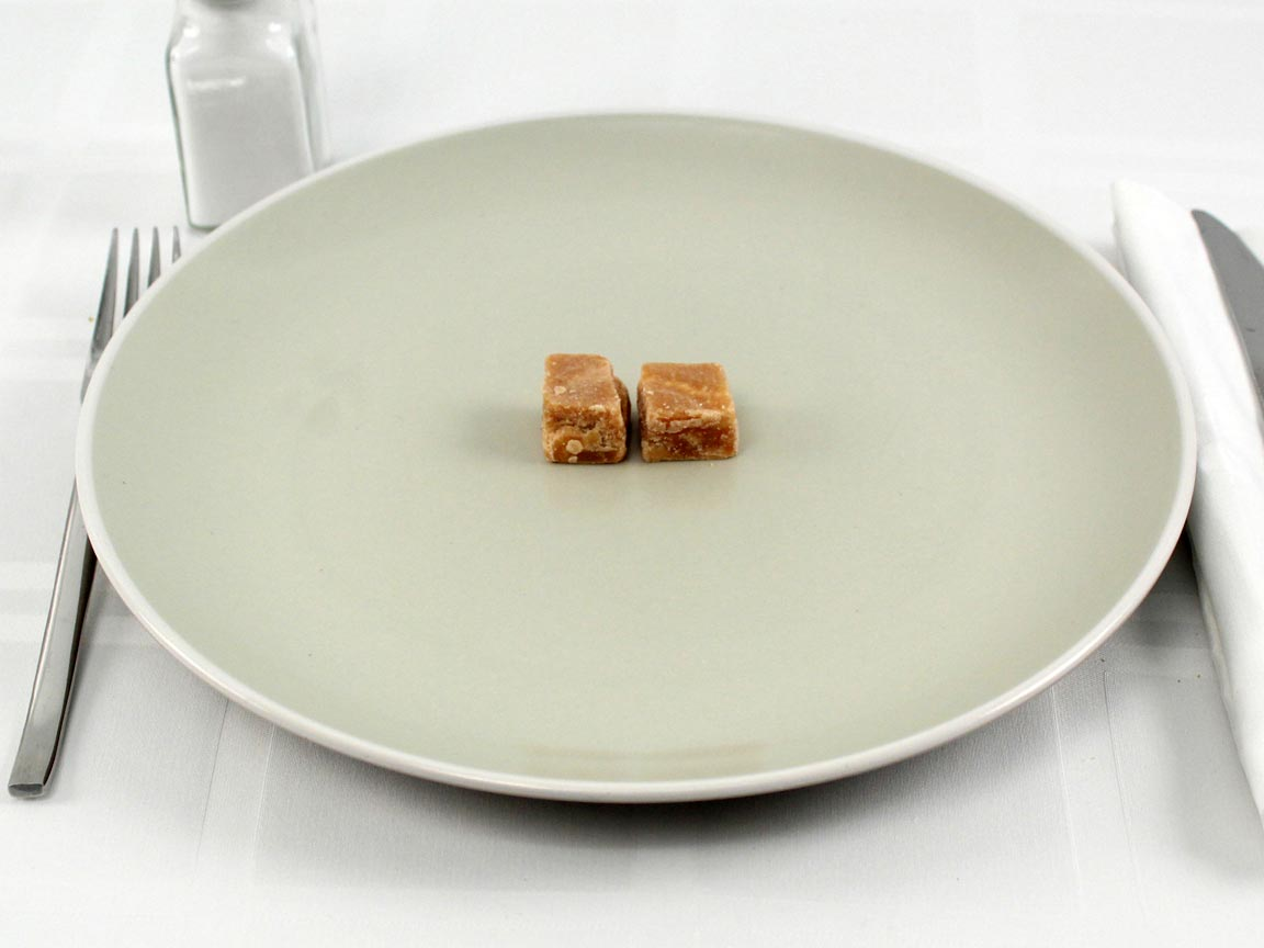 Calories in 2 piece(s) of English Butter Fudge