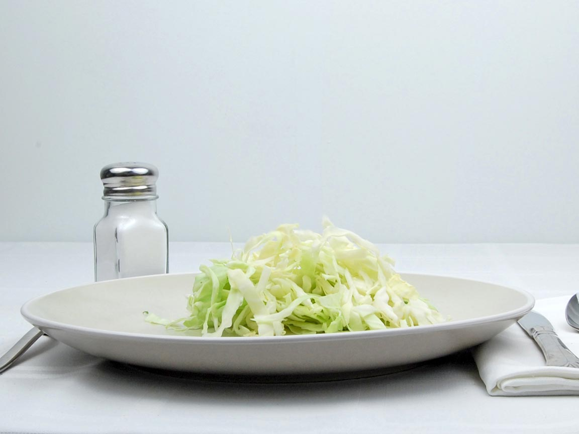 Calories in 1 cup(s) of Cabbage - Raw